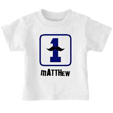 First Baby Boy Birthday Mustache Custom Toddler Baby Kid T-shirt Tee 6mo Thru 7
