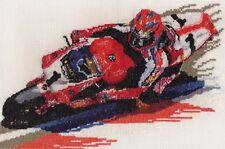 Carl Fogarty Superbike racer motorbike counted cross stitch kit/chart 14s