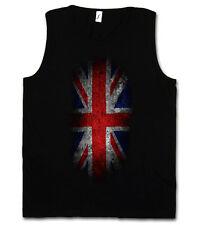 VINTAGE UK UNION JACK FLAG T-SHIRT - England Great Britain Fahne Banner Royal