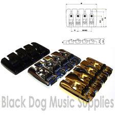 Quality 4 String bass guitar bridge chrome black or gold top load BB001 + screws