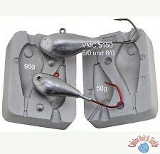 JIG head moule Leurre de pêche 50 / 90 g utilise VMC JIG hooks5150 taille 5/0 et 6/0