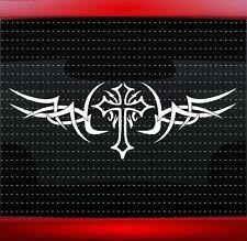 "24"" Cross Tribal #1 Christian Car Decal Window Vinyl Sticker Jesus (20 COLORS!)"