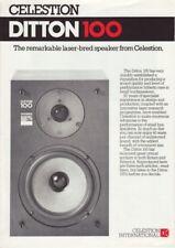 Celestion Ditton 100 Speaker System Brochure