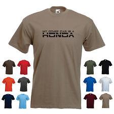 """""""il mio altri auto è una HONDA"""" MEN'S CAR Divertente Regalo Di Compleanno T-shirt"""