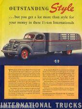 International Truck D-30  International Harvester 1939 Ad Poster photo print