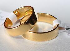 1 Paar Trauringe - Silber 925 vergoldet 5µ - Top Qualität - Breite 5,4mm - TOP