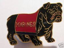 "US MARINES/USMC BULLDOG  ENAMEL METAL  PIN BADGE 1"" long (2.5cm), FREEPOST"
