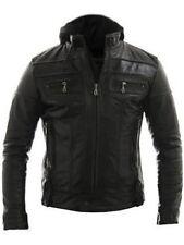 Racing Jacket Motorbike Motorcycle Leather Biker Jacket Detach Hood