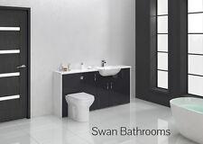 Anthracite brillant meubles de salle de bain monté 1700mm