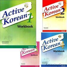 Active Korean Work Book Series with Audio CD Hangul Learn Korea Text Book Seoul