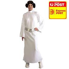 Deluxe Princess Leia Costume Ladies Licensed Star War Dress + Wig