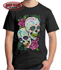 Sugar Skulls T-Shirt Painted Day of the Dead Neon Mexican Dia de los Muertes