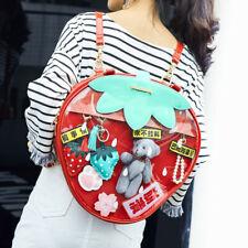 Japanese Strawberry Transparent Jelly Bag Lolita Shoulder Bag Handbag Backpack