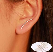 Women Ear Wrap Ear Climber Crawler Ear Clip Cuffs Silver Gold Earrings Same Edge