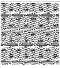 Eyes Pattern Shower Curtain Fabric Decor Set with Hooks 4 Sizes