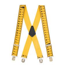 TAPE MEASURE 2-Inch Wide Pin Clip Suspenders