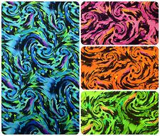 Fantastic Storm Swirl Big Pattern on Heavy Stretch Polyester Spandex Fabric
