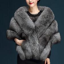 165*50 New Womens Faux Mink Fur Shawl Shrug Wrap Cape Prom Wedding Coat 142