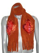 ECHARPE femme 3 C DIFFUSION polaire & jacquard indien orange rouille rouge neuve