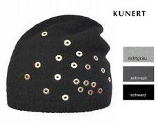 Kunert - Damen Mütze, Haube mit Lochnieten, Kaschmir-, Merino-, Viskosegemisch