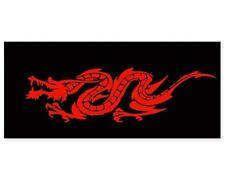 Dragon Red on Black Car Vinyl Sticker - SELECT SIZE