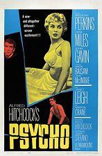 Psycho 1960 Retro  Movie Poster A0-A1-A2-A3-A4-A5-A6-MAXI 286