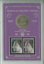 The Queen Elizabeth II Silver Wedding Vintage Crown Coin & Stamp Gift Set 1972