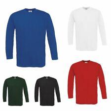 B&C LANGARMSHIRT SHIRT  longsleeve T-Shirt Herren Übergröße S M L XL XXL 3XL