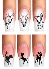 Wraps Nail Tattoo Kinderliebling Reh Baby Schmetterl gezeichnet silhouette Bamb