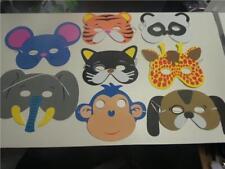 Animal Fancy Dress Party masks cat dog giraffe elephant panda tiger monkey mouse