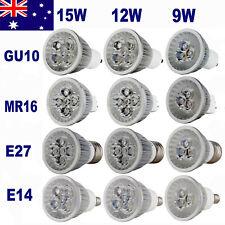 Dimmable Cree LED 9W 12W 15W GU10 E14 MR16 E27 Downlight Bulb Lamp SpotLight