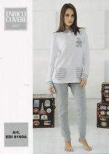 Women's Pajamas Long beaded ENRICO COVERI Hot Cotton. EDI8160A. Rose and Cream