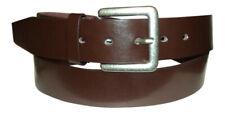 Cinturón De Hombre Marrón Cuero: Diseñado Por Milano: Plata Hebilla Resistente