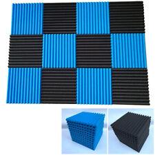 12Pcs Acoustic Panels Soundproofing Foam Tiles Studio Sound Isolation Decor Set