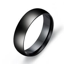 Size 6-13 Titanium Steel Men's Women's Wedding Party Band Ring Black/Silver/Gold