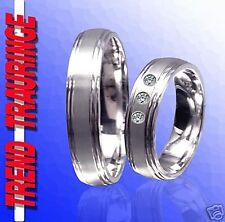 2 Trauringe Verlobungsringe Eheringe Silber 925 & Gravur Gratis , T8-3