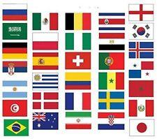 FUSSBALL WM 2018  Flagge Flaggen Fahne Fahnen  Flaggenkette Girlande AUSWAHL