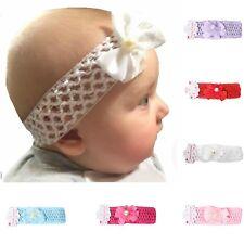 Baby Mädchen Schleife Blume Haarband Taufe Kinderhaarband Stirnband Haarschmuck