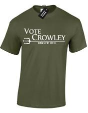 VOTE CROWLEY MENS T-SHIRT SUPERNATURAL FAN DESIGN WINCHESTER SAM DEAN BROTHERS