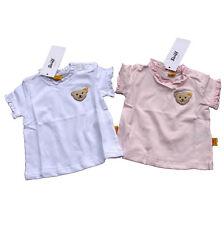 STEIFF T-Shirt Top Baby Girls rosa oder weiß Teddy Rüschen Knopf im Ohr Gr. 56