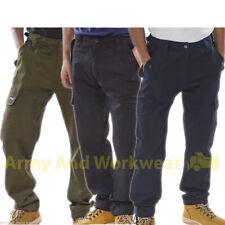 6 bolsillos de combate Cargo Pantalones de trabajo Workwear Pro Pantalones De Seguridad Mod ejército Policial
