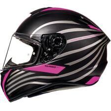 MT TARGO DOPPLER MATT BLACK PINK MOTORCYCLE MOTORBIKE BIKE HELMET MAX VISION