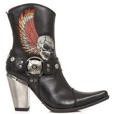 New Rock M.BULL006-S1 Echtleder Damen Cowgirl Cowboy Western Stiefel Boots