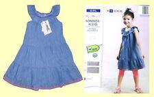 Mädchen Sommerkleid Jeanskleid Kleidchen Kleid Gr. 92-128 Baumwolle NEU