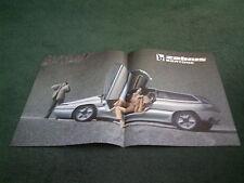 1989 BERTONE ZABRUS Citroen BX 4 TC BASED CONCEPT CAR MINI POSTER BROCHURE