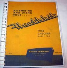 Heathkit Tube Tester Manual Set, Choose TC-1, TC-2, or TC-3. Complete w/ Charts