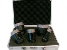 Diamantbohrkronen - Set im Koffer Fliesenbohrer M14 , 20/35/40/50, 5-6-Teilig