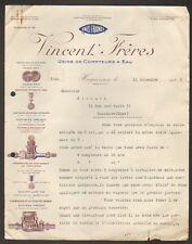 """HAGUENAU (67) USINE de COMPTEUR à EAU """"VINCENT Freres"""" en 1925"""