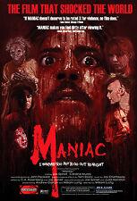 MANIAC Movie Poster 1980 Horror Slasher