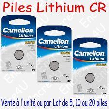 Pile Bouton CR Lithium 3V CR1616 CR1620 CR1632 vendue à l'unité, par 5, 10 ou 20